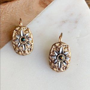 Textured Flower Earrings